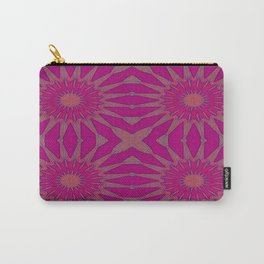 Magenta Pinwheel Flowers Carry-All Pouch