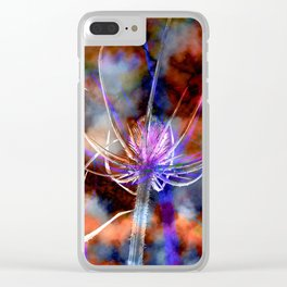 Floral Cloud Spectacle Clear iPhone Case