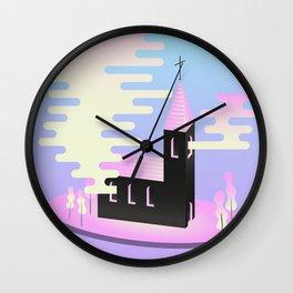 Smoky church Wall Clock
