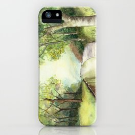 Trees by the canal iPhone Case