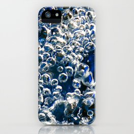Blue Bubbles Macro photography River stream underwater abstract art bright bold vibrant color! iPhone Case