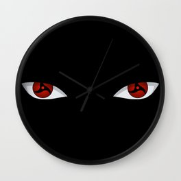 Eyes of the Genjutsu Master Wall Clock