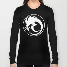 Sliver Ouroboros Symbol -White- Long Sleeve T-shirt