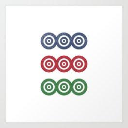 Mahjong: 9 Dots Art Print
