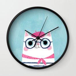 Ooh la la! Antoinette the Parisian cat Wall Clock