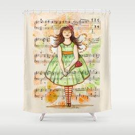 Green Fairy Shower Curtain