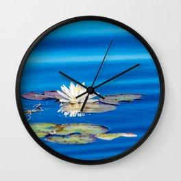 Cool Blues Wall Clock