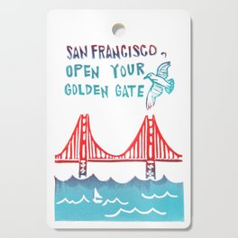 San Francisco Open Your Golden Gate Cutting Board