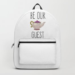 Be our Guest Hand painted teapot hand print Backpack
