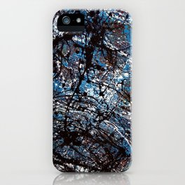 """Number 4"" Abstract Painting by Mark Compton iPhone Case"
