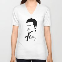 castiel V-neck T-shirts featuring castiel by poorbeautifuldean