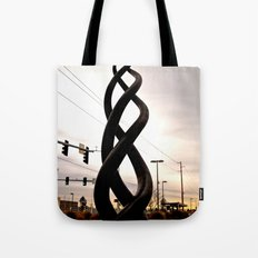Train station sculpture Tote Bag