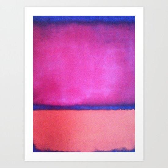 rothko pink purple blue art print