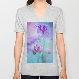 Violet flowers Unisex V-Neck