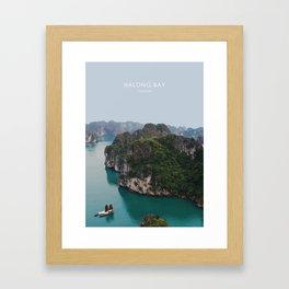 Halong Bay, Vietnam Travel Artwork Framed Art Print