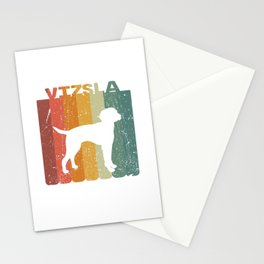 Retro Vizsla Dog Lover Gift Idea Stationery Cards