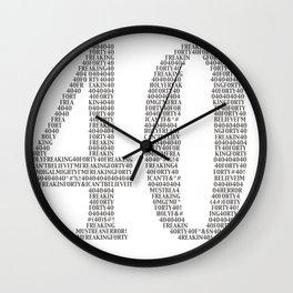 OMG I'm 40! Wall Clock