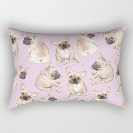 Frenchies: French Bulldog Puppies Pattern Rectangular Pillow