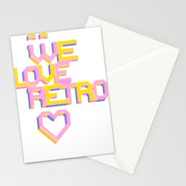 We Love Retro Stationery Cards