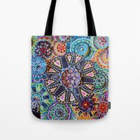 rave Tote Bags featuring Rave by Emilie Darlington