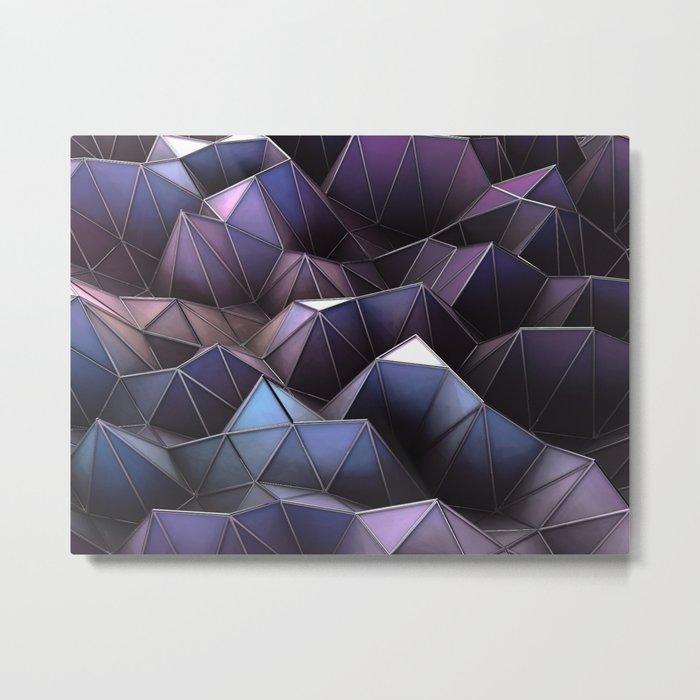 Land of blue Metal Print