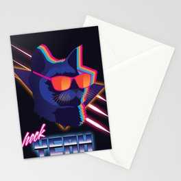 Heck Yeah Retro Cat Stationery Cards