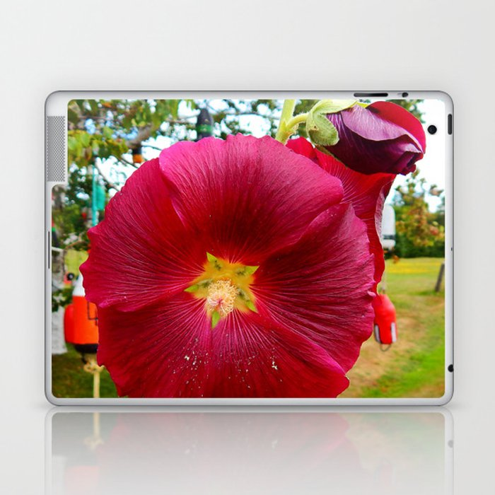 Burgundy Hollyhock Laptop & iPad Skin