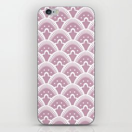 Fan Pattern 431 Dusty Rose iPhone Skin
