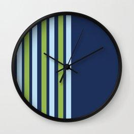 Minimal Abstract Blue White Green 03 Wall Clock