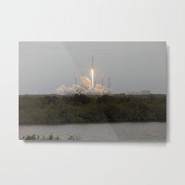 1374. Falcon 9 Rocket Launch Metal Print