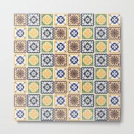 Assorted tiles pattern Metal Print