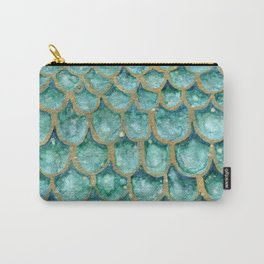 Emerald Mermaid Skin Carry-All Pouch