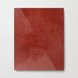 Red rustic Metal Print