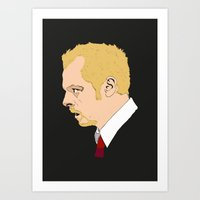 shaun of the dead Art Prints featuring Simon Pegg - Shaun Of The Dead by Tomcert