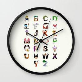 DB Alphabet Wall Clock