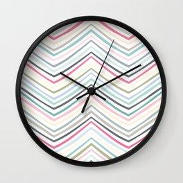 Eve Modern Multicolor Stripe Wall Clock