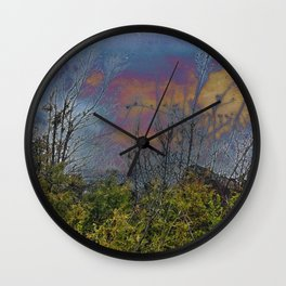 Winters Approach; Spring Stays Imbeded Wall Clock