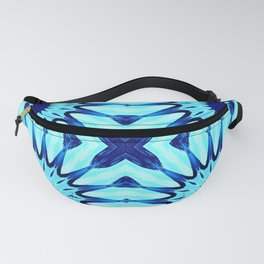 Turquoise Blue Pinwheel Flowers Fanny Pack