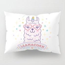 llama unicorn llamacorn pink lama alpaca funny cute gift idea Pillow Sham