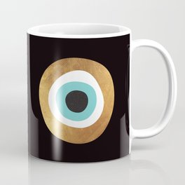 Gold Evil Eye 70s Bohemian Lucky Charm Nazar  Coffee Mug