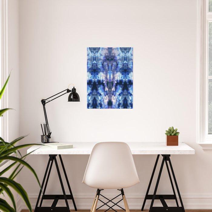 Blue Lagoon Tie-Dye Poster