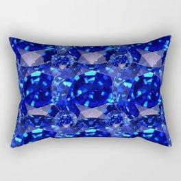 BLUE SAPPHIRES GEM BIRTHSTONE Rectangular Pillow
