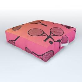 Tennis Pink Random Outdoor Floor Cushion