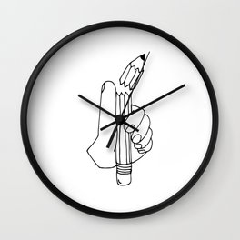 dang it pencil Wall Clock