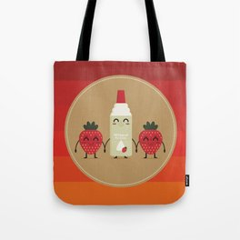 strawberries and whipped cream Tote Bag