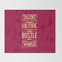 Lab No. 4 Talent Is Formed Johann Goethe Life Motivational Quotes Throw Blanket