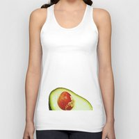 avocado Tank Tops featuring Avocado by Olivier P.