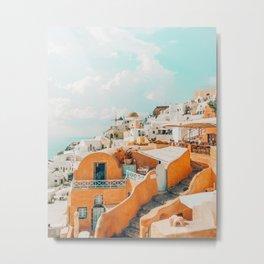 Santorini #travel #greece Metal Print