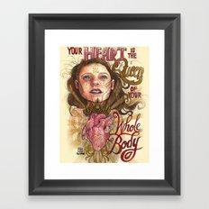 Heart is the Queen Framed Art Print