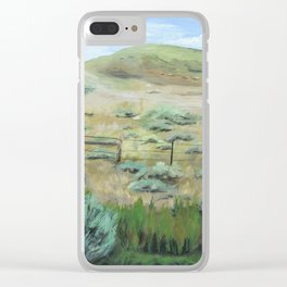 Wyoming Meadow Art Clear iPhone Case